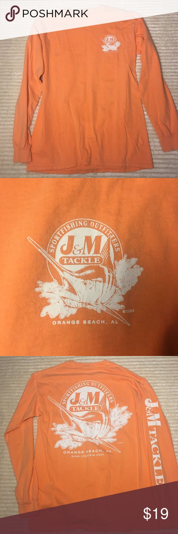 NWOT J&M Tackle Women's Comfort Colors Orange Tee This long sleeve tee is new with out tags. Has never been worn. Only washed. Beautiful color size Small. Tops Tees - Long Sleeve