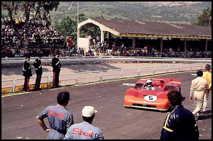 Nino Vaccarella and Toine Hezemans - Winners in Alfa 33-3 Targa Florio 1971