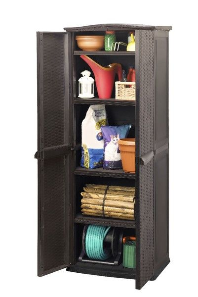 Keter Rattan Style Utility Cabinet Outdoor And Garden