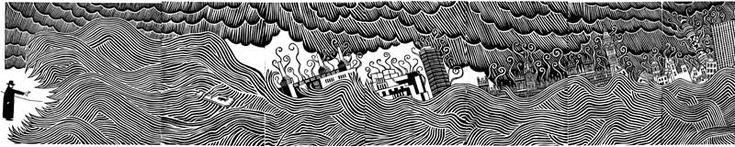 Stanley Donwood's artwork for Thom Yorke's solo album The Eraser (2006)