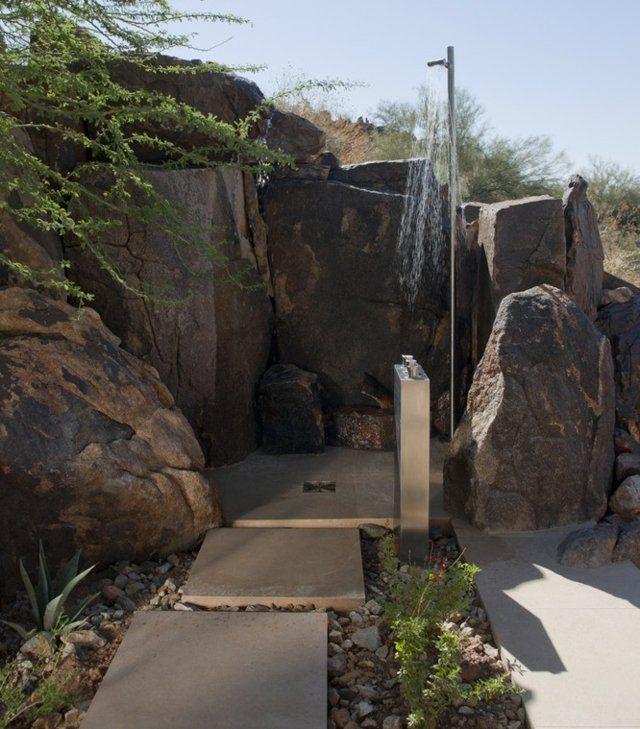 Dusche Garten Warmwasser : ?ber 1.000 Ideen zu ?Gartendusche Edelstahl auf Pinterest