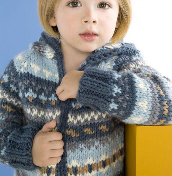 chaqueta con capucha para niños Modelo - Niño Modelo - Phildar