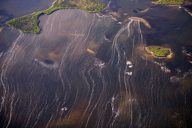 Islands in Northwestern Florida - USA From THe Air | www.piclectica.in #piclectica