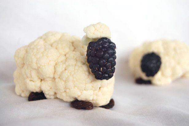 Play With Your Food - Cauliflower Sheep! --> http://www.hgtvgardens.com/photos/crafts-photos/kids-craft-veggie-sheep?soc=pinterest