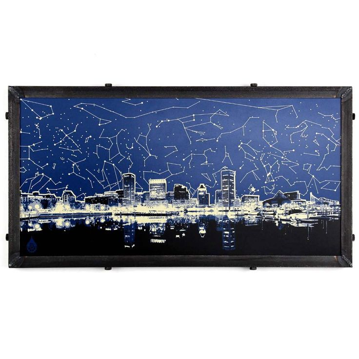 Maryland Map Coordinates%0A Star Map Skyline  Baltimore  MD