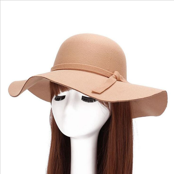 >> Click to Buy << Wholesale female wide-brimmed hat sunora fedora adult bowling retro Chapeu Sombrero hat imitation wool floppy plate gorilla #Affiliate