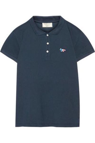Cotton-piqué polo shirt #poloshirt #offduty #covetme #Maison Kitsuné