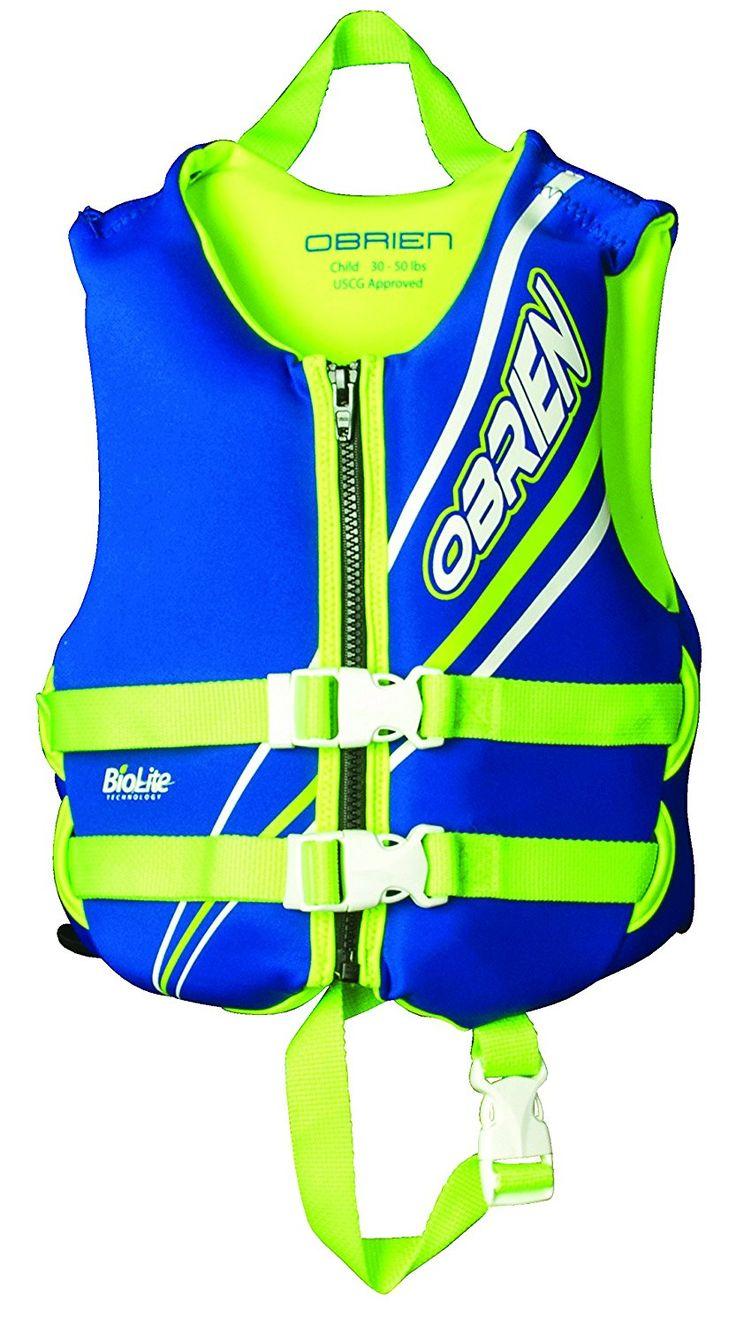 O'Brien Child Neoprene Life Vest, Blue/Green