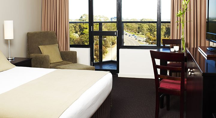A recently refurbished Superior Room at Rydges South Park Adelaide.