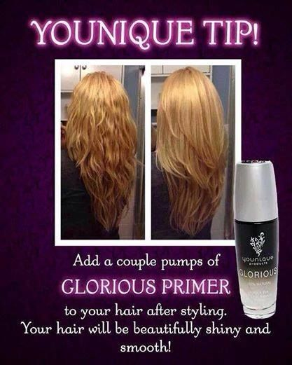 Youique's Glorious Primer | Makeup Primer | Hair Tamer | Hair Shine | Cosmetics | Dual Purpose | Younique Presenter | Makeup | Makeup Artists | Beauty Products | Fastest Growing Team | Fastest Growing Younique Team | Direct Sales | Work From Home | Paid Instantly | Unlimited Income Potential | www.myyouniquelook.com