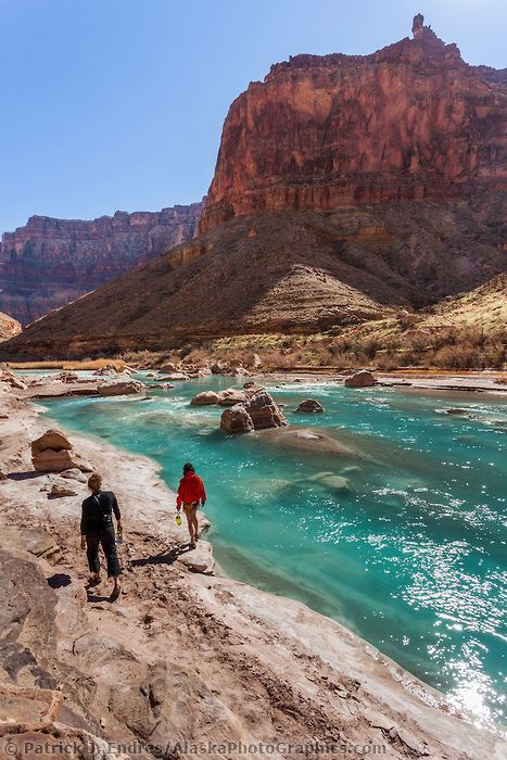 Aqua blue waters of the Little Colorado River, Grand Canyon National Park, Arizona