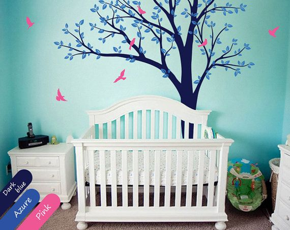 211 best ideas for baby room images on Pinterest Tree wall