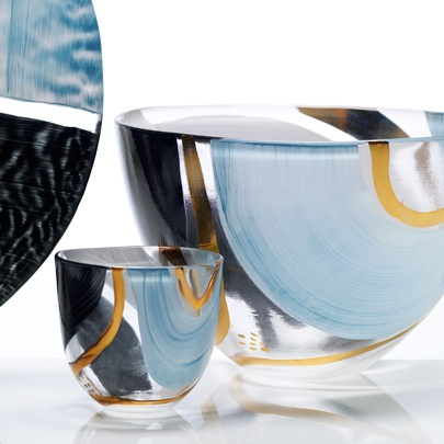 Glass collection Laguna for Magnor Glassverk designed by Lena Hautoniemi