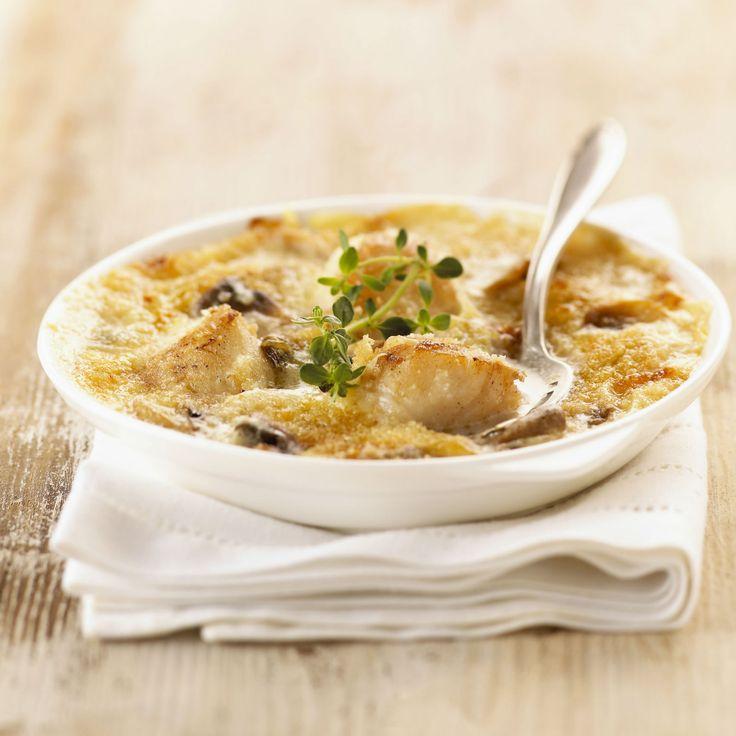Découvrez la recette Gratin de noix de Saint-Jacques sur cuisineactuelle.fr.