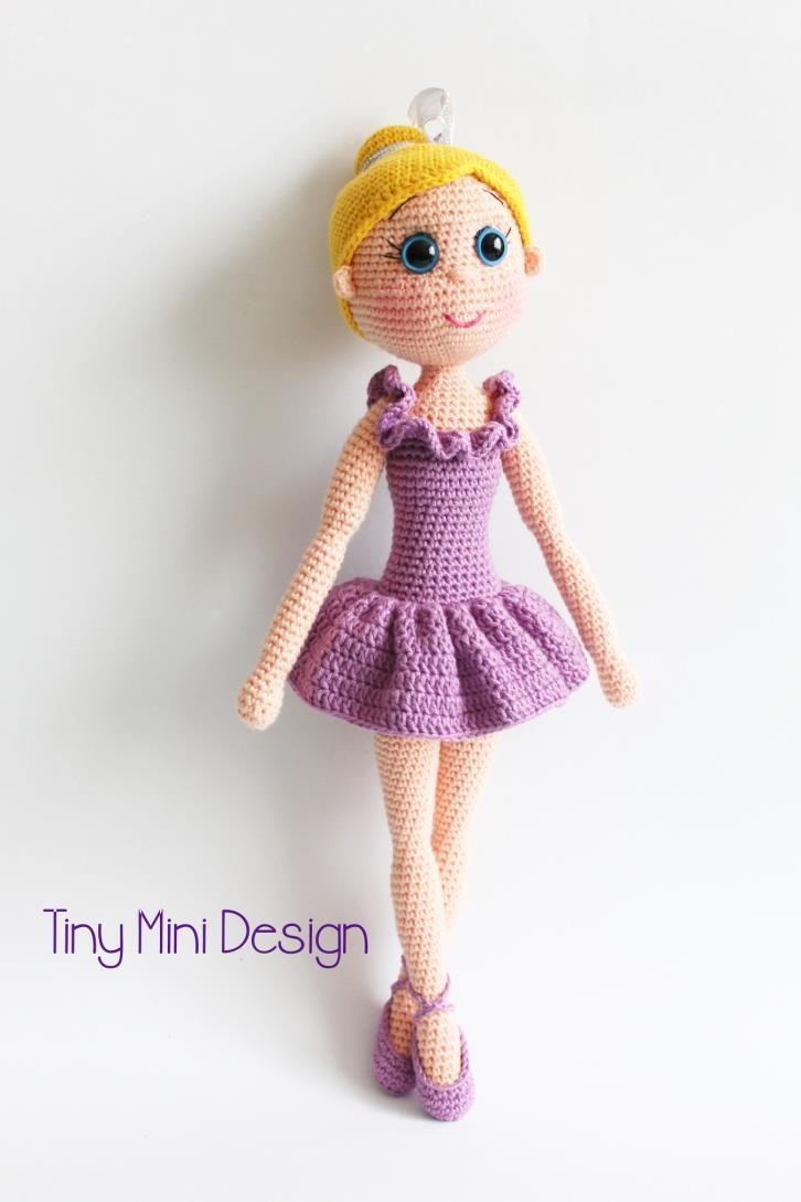 esquema de la bailarina de la muñeca hecha punto ganchillo