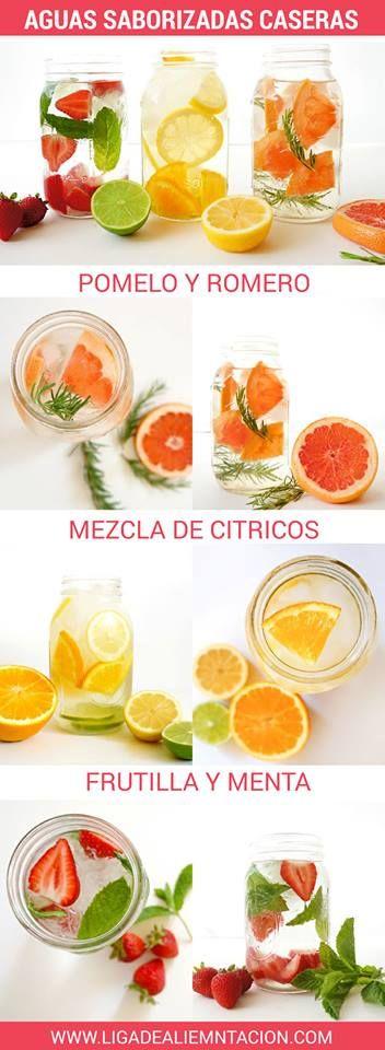 Aguas saborizadas caseras #recetas #verano