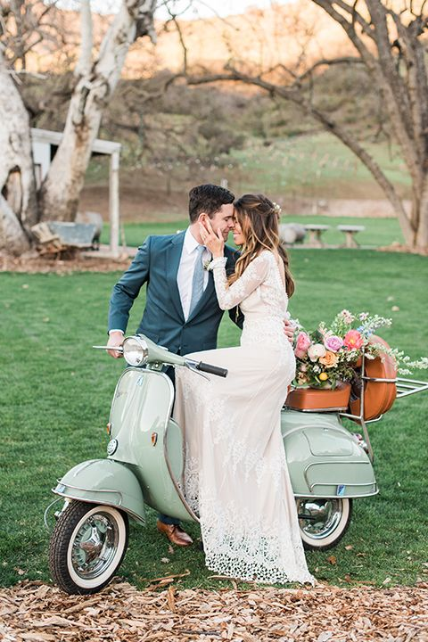 Malibu-wedding-shoot-at-triunfo-creek-vineyards-bride-and-groom-by-vespa