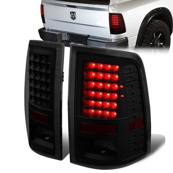 09 17 Dodge Ram 1500 2500 3500 Led Rear Brake Tail Lights Tinted Tail Light Dodge Ram 1500 Ram 1500