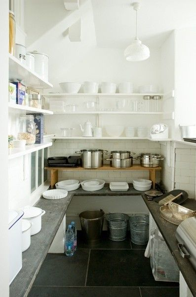 Emma-like the surfaces English Larder with Stone Floor/Remodelista