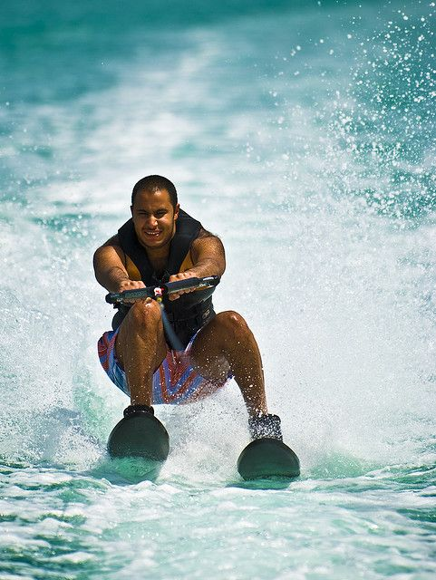 water skiing, sports photography