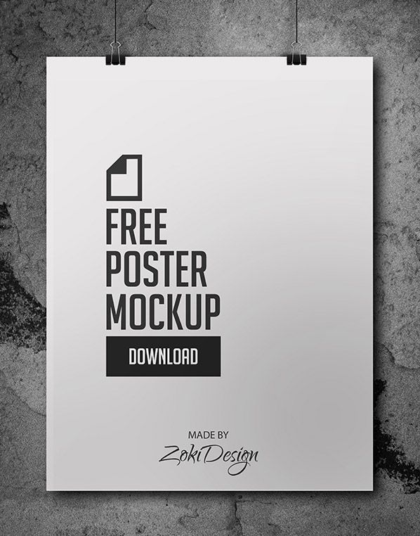 Free Poster Mockup by ZokiDesign. #posters  Print your posters at www.InexpensivePrintSolutions.com