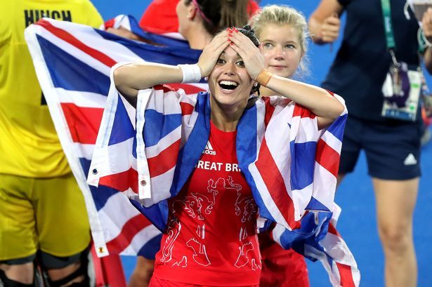 Great Britain's Sam Quek reacts after winning the hockey gold medal match at the Rio Olympics in 2016