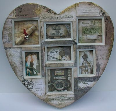 Eclectic Paperie: Altered Frame with 7 Gypsies Harmony Paper Collection . . .
