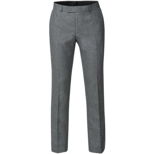 Limehaus Oscar Grey Jaspe Trousers (3.485 RUB) ❤ liked on Polyvore featuring men's fashion, men's clothing, men's pants, men's casual pants, mens polyester dress pants, mens gray pants, mens polyester pants, mens slim fit suit pants and mens grey dress pants