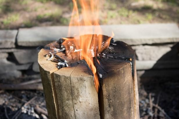 Host a shindig with a campfire that will burn, baby, burn with little maintenance. S'mores, anyone?