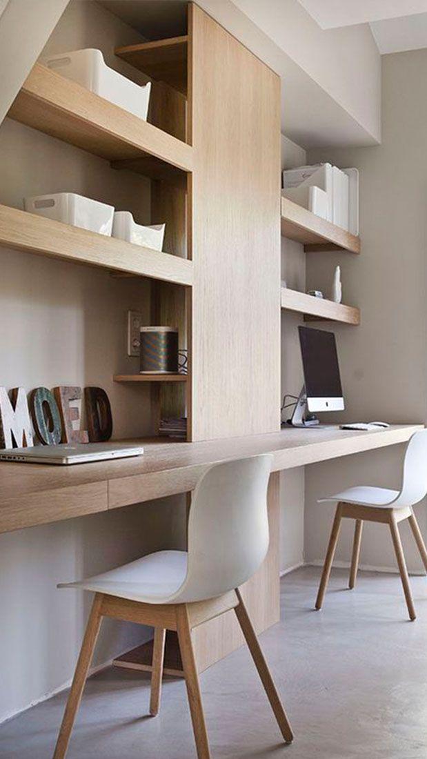 Werken in je eigen omgeving aan huis in je vertrouwde interieur. Het nieuwe werken! #werkplek #interieur #hout