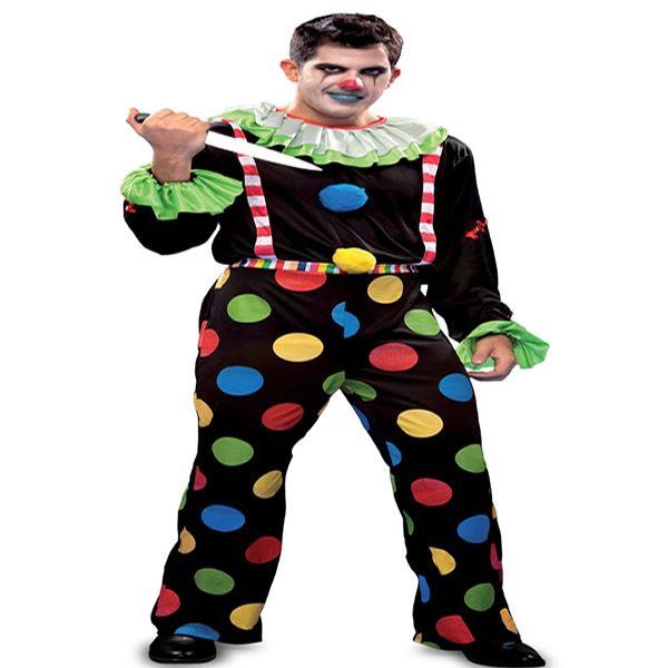 DisfracesMimo, disfraz de payaso diabolico hombre talla m/l.Con este colorido disfraz original y diverdito en tus fiestas de disfraces o carnaval o despedidas de soltero.Este disfraz es ideal para tus fiestas temáticas de disfraces de miedo y payasos para hombre adultos