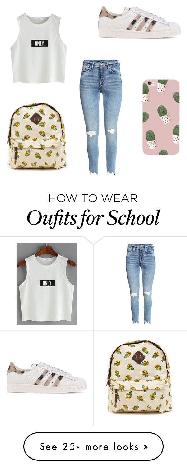 """school"" by marrit-mvdm on Polyvore featuring adidas Originals"