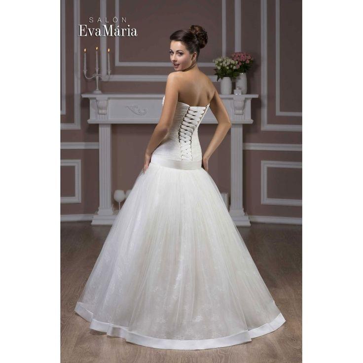 Svadobné šaty so stuhou Selena