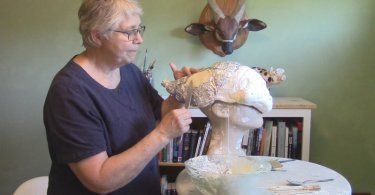 Paper mache, for adults! Learn to sculpt with paper mache and Jonni's famous Paper Mache Clay.