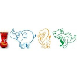 """Wee Target 3 month """"Jungle Edition"""" has 3 Wee Targets included. The pictures are an elephant (blue), Dinosaur (green) and Tiger (orange)  Wee targets last approximately 4-6wks  Wee target is a fun way to teach young boys to aim correctly and encourage toilet training and create incentive!  When the child aims at the black spot, it dissapears and a cool picture appears! Clean by flushing and the black spot reappears."""