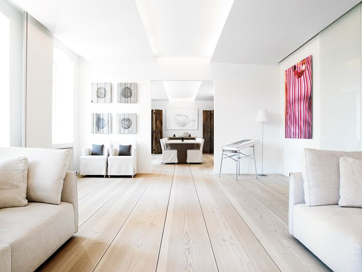 Copenhagen loft with Dinesen Douglas 45 cm wide floorboards