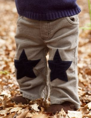 knee patches, plain pants no more