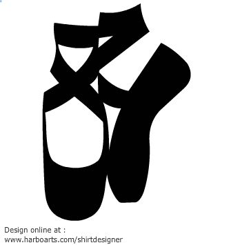 balletshoessilhouettevectorgraphictemplate