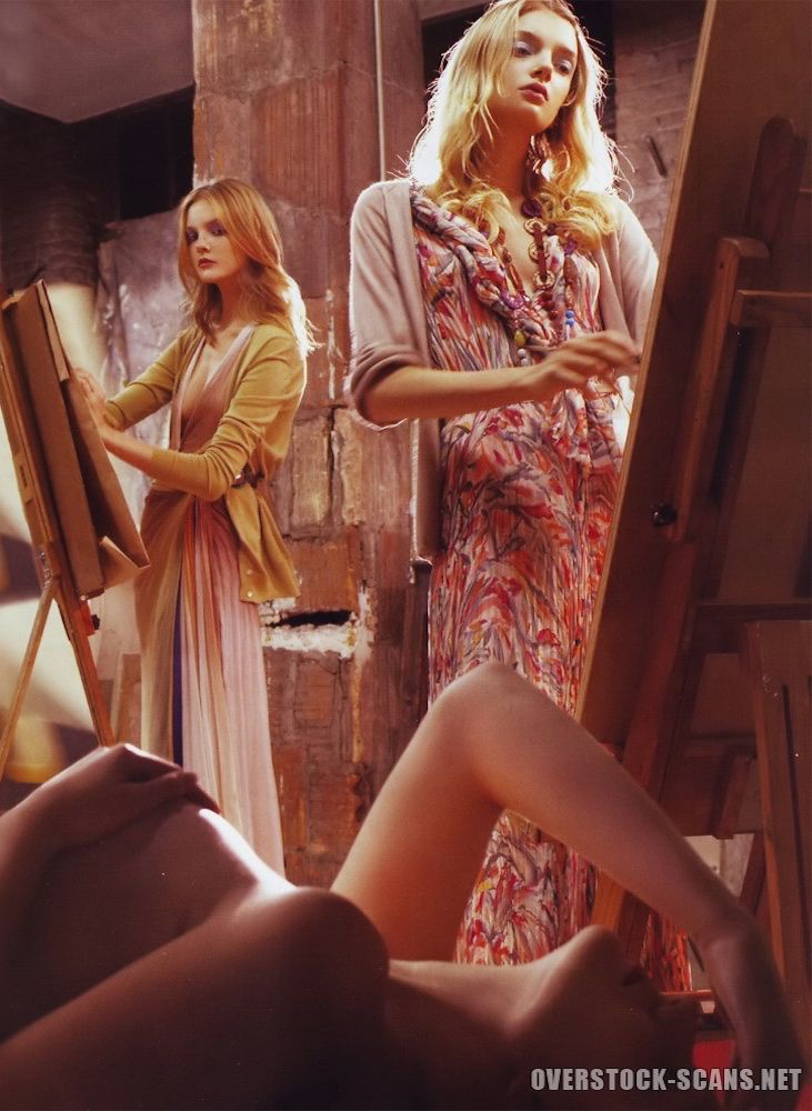 Strokes of Genius Photo Steven Meisel Models Lily Donaldson, Sasha Pivovarova, Caroline Trentini & Snejana Onopka