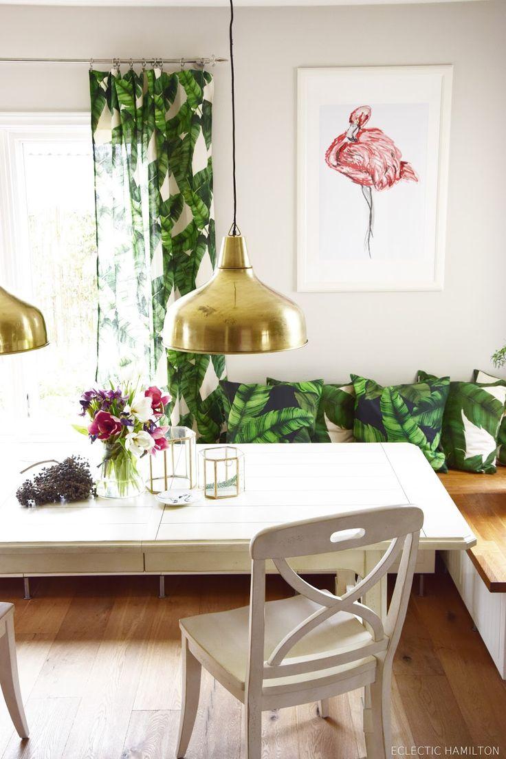 Dschungelfieber: von der Tischdecke zum Vorhang - ganz ohne Nähen!