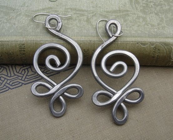 BIG Celtic Budding Spiral Earrings Light by nicholasandfelice, $ 18.00 by marlene