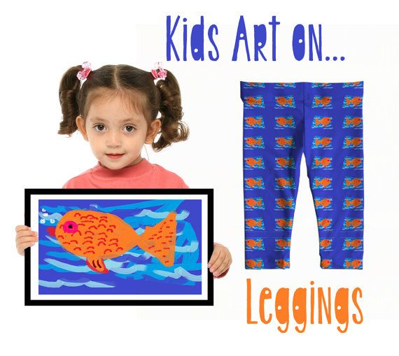 Children's art transferred onto leggings, toddler baby leggings, kids art into gifts, children's drawing, children's art into gifts