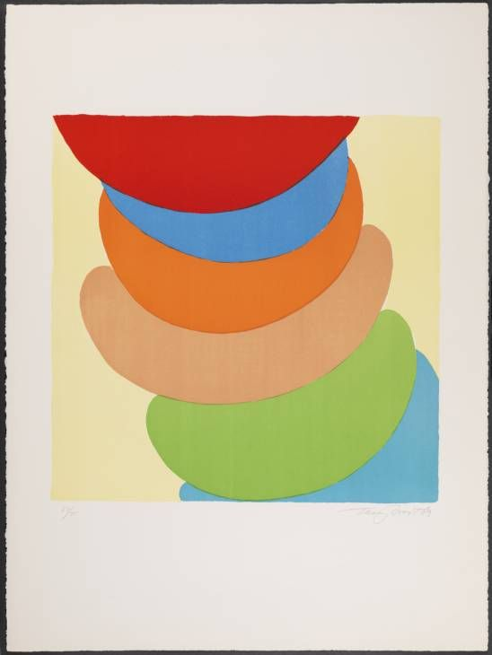 Sir Terry Frost, 'Red, Blue, Orange on Yellow' 1969