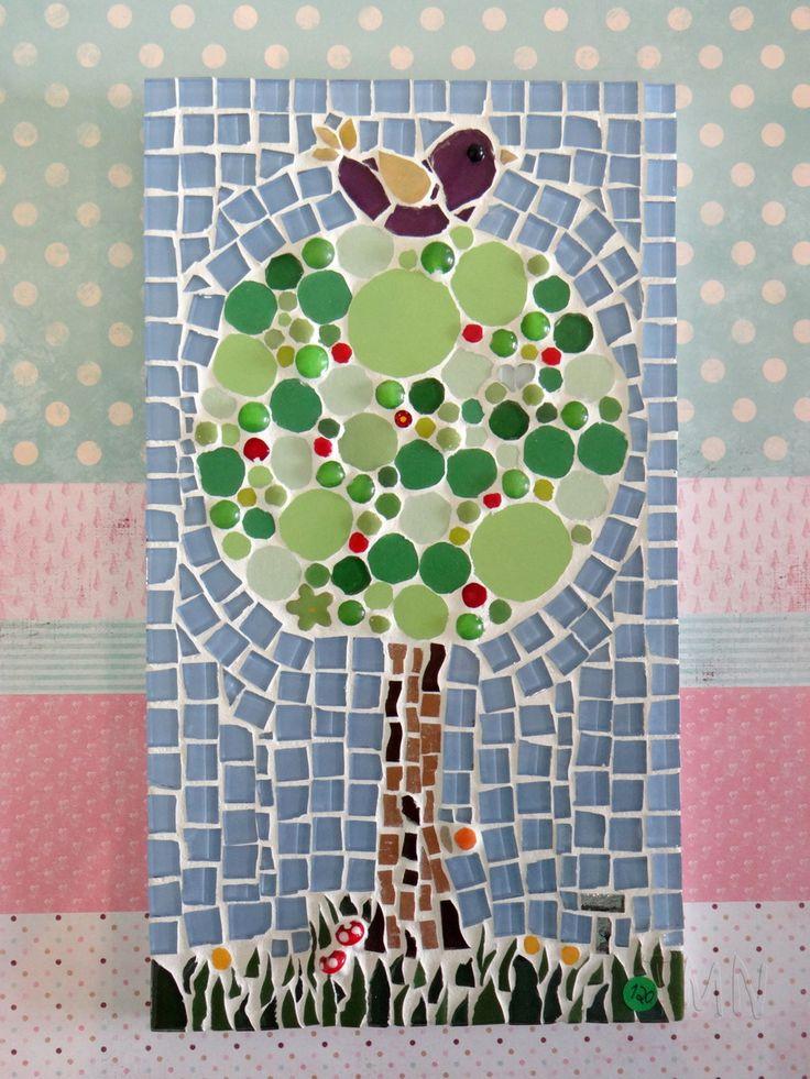 arvore de natal em mosaico