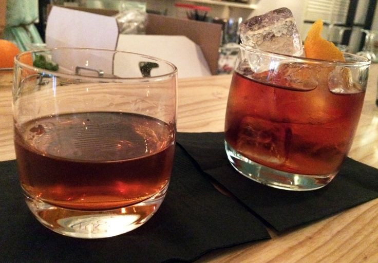 Smoked Boulevardier and Barrel blended Sazerac (9 bourbons, 7 cognacs, 3 bitters, absinthe) cocktails at Pidgin, the 4th stop of Dean's epic birthday crawl ! http://bit.ly/1SpE8bs