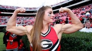 Story about a UGA Cheerleader choosing not to go pro: http://blogs.ajc.com/the-buzz/2012/02/02/ugas-buff-cheerleader-turning-heads/