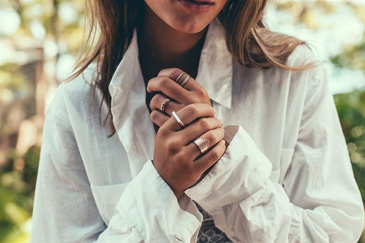 Layered Linda Tahija rings - Linda Tahija Jewellery - Product Showroom 2016