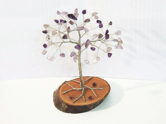 Check out this item in my Etsy shop https://www.etsy.com/listing/268598751/amethyst-ametrine-gem-wire-treewire-tree