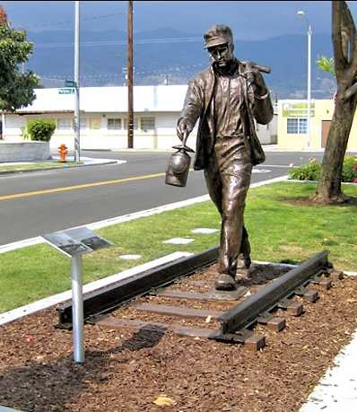 Track Walker | Artist: Shiela Cavalluzzi | Year: 2011 | Where: Burbank, California | Why You Need to See it: The lone railway worker walks on portions of the original Southern Pacific Railroad track that led to the city's development.