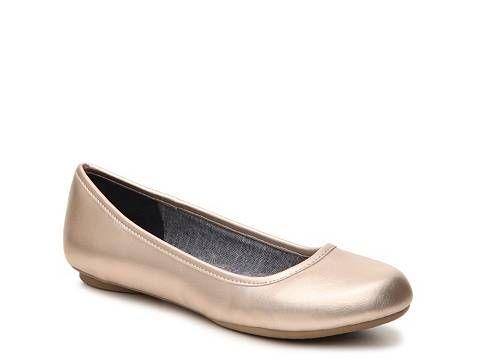 Dr. Scholls Friendly Metallic Ballet Flat